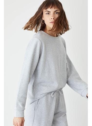 DeFacto Basic Relax Fit Sweatshirt Gri
